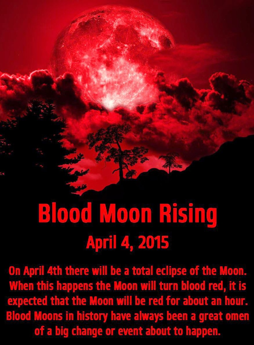 Blood Moon Rising April 4, 2015